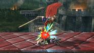 Lanzamiento inferior de Ike (2) SSB4 (Wii U)
