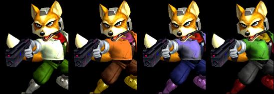 Paleta de colores Fox SSBM