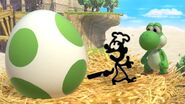 Yoshi y Mr. Game & Watch en Altárea SSBU