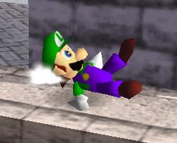 Ataque Smash hacia abajo de Luigi (1) SSB