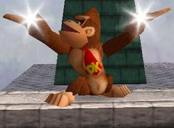 Ataque Smash hacia arriba de Donkey Kong (1) SSB