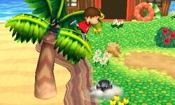 Ataque Smash lateral Aldeano (2) SSB4 (3DS)