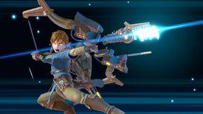 Link usando la Flecha ancestral SSBU