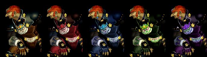 Paleta de colores Ganondorf SSBM