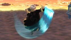 Ataque aéreo hacia adelante (2) Robin SSB4 (Wii U)