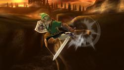 Ataque aéreo normal de Link SSB4 (Wii U)