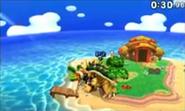 Giga Bowser en Isla Tórtimer SSB4 (3DS)