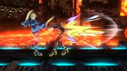 Golpiza de Samus Zero SSB4 (Wii U)