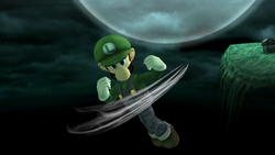 Ataque aéreo hacia abajo Luigi SSBB (2)