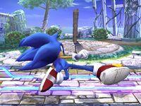 Ataque fuerte inferior Sonic SSBB