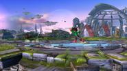 Karateka Mii usando una bola de hierro (3) SSB4 (Wii U)
