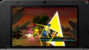 Link efectuando Golpe Trifuerza SSB4 (3DS)