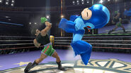 Little Mac golpeando a Mega Man - (SSB. for Wii U)