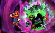 Mario junto a un Orne SSB4 (3DS)