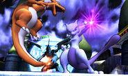Mewtwo y Charizard en el Palacio de N SSB4 (3DS)
