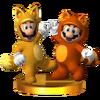 Trofeo de Mario tanuki y Luigi kitsune SSB4 (3DS)