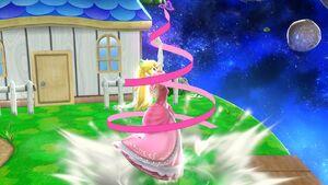 Ataque Smash hacia arriba Peach SSB4 Wii U