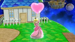Ataque fuerte hacia arriba Peach SSB4 Wii U