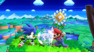 Mario y Sonic en el escenario Windy Hill Zone - (SSB.for Wii U)