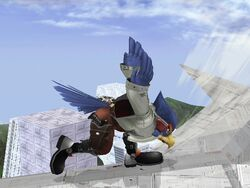 Ataque Smash Lateral Falco SSBB (3)