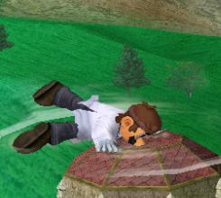 Ataque Smash hacia abajo de Dr. Mario (2) SSBM