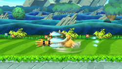 Ataque de recuperación de cara hacia arriba de Bowser SSB4 (Wii U)