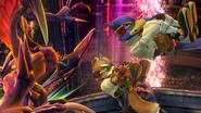 Créditos Modo Leyendas de la lucha Falco SSB4 (Wii U)