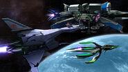 Fox y Samus Zero en la Estacion Espacial SSB4 (Wii U) (1)