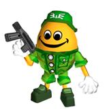 Pegatina de Huevo Chibi-Robo Park Patrol SSBB