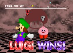 Pose de victoria de Luigi (1) SSB