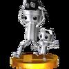 Trofeo de Chibi-Robo y Chibi-Tot SSB4 (3DS)