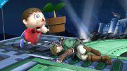 Aldeano atacando (3) SSB4 (Wii U)