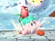 Kirby usando Recurrente SSBB