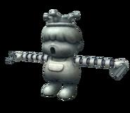 Pose T Estatua de Porky SSBB