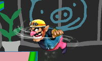 Ataque aéreo normal de Wario (1) SSB4 (3DS)