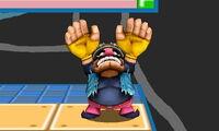 Ataque fuerte hacia arriba de Wario SSB4 (3DS)