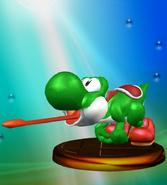 Trofeo de Yoshi (Smash 1) SSBM