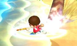 Ataque de recuperación boca abajo Aldeano (2) SSB4 (3DS)
