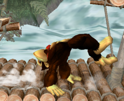 Ataque de recuperación de cara hacia arriba de Donkey Kong (2) SSBM