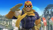 Captain Falcon haciendo una burla en el Campo de batalla SSB4 (Wii U)