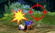 Dúo Duck Hunt usando su ataque Smash superior en SSB4 (3DS)