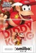 Embalaje del amiibo de Diddy Kong (Japón)