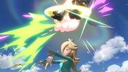 Estela atacando a Falco SSBU