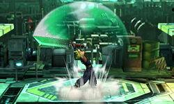 Ataque Smash hacia arriba Cloud SSB4 (3DS)