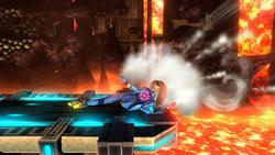 Ataque de recuperación desde el borde de Samus Zero SSB4 (Wii U)