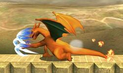 Ataque normal de Charizard (1) SSB4 (3DS)