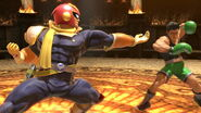 Captain Falcon y Little Mac en el Coliseo de Regna Ferox SSBU