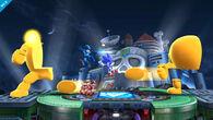 Yellow Devil en el escenario Castillo del Dr. Wily SSB4 (Wii U)