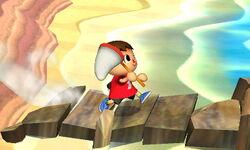 Agarre corriendo Aldeano (1) SSB4 (3DS)