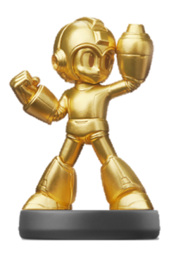 Amiibo de Mega Man dorado (serie Legacy Collection)